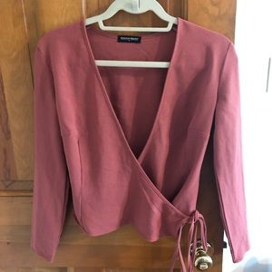 Size M American Apparel Juilliard Wrap Top